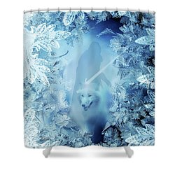 Winter Is Here - Jon Snow And Ghost - Game Of Thrones Shower Curtain by Lilia D