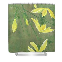 Winter Jasmine Shower Curtain