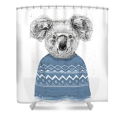 Winter Koala Shower Curtain