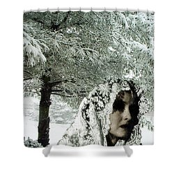 Winter Lace Shower Curtain by Lyric Lucas