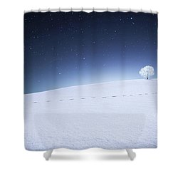 Shower Curtain featuring the photograph Winter Landscape by Bess Hamiti