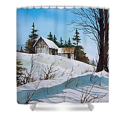 Winter Landscape Shower Curtain by James Williamson