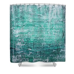 Shower Curtain featuring the painting Winter Landscape by Jocelyn Friis