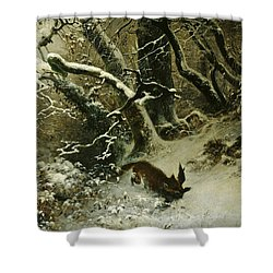 Winter Landscape Shower Curtain by Ludwig Munthe