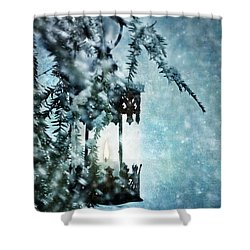 Winter Lantern Shower Curtain