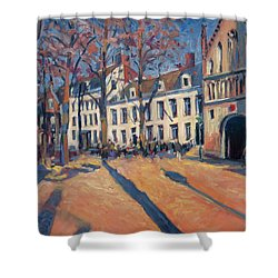 Winter Light At The Our Lady Square In Maastricht Shower Curtain