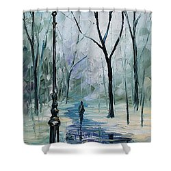 Winter Light Shower Curtain by Leonid Afremov