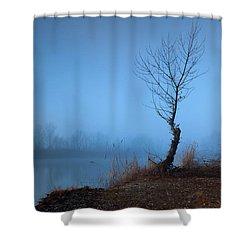 Winter Loner Shower Curtain