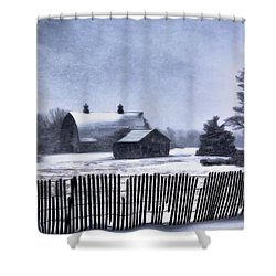 Shower Curtain featuring the photograph Winter by Mark Fuller