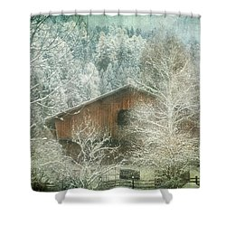 Winter Mood Shower Curtain