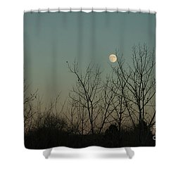 Shower Curtain featuring the photograph Winter Moon by Ana V Ramirez