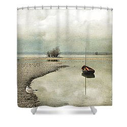 Shower Curtain featuring the photograph Winter Morning By The Lake by Chris Armytage