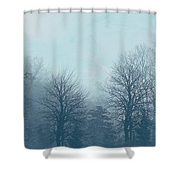 Shower Curtain featuring the digital art Winter Morning by Milena Ilieva