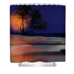 Winter Night Shower Curtain by Dr Loifer Vladimir