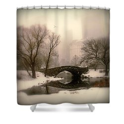 Winter Nostalgia Shower Curtain by Jessica Jenney