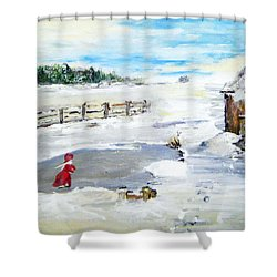 Winter Of Our Youth  Shower Curtain