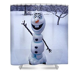 Winter Olaf Shower Curtain