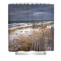 Winter On Cape Cod Shower Curtain by Charles Harden
