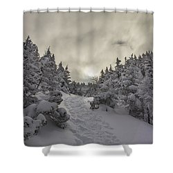 Winter On The Ammo Trail Shower Curtain