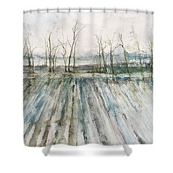 Winter On The Delta Shower Curtain by Robin Miller-Bookhout