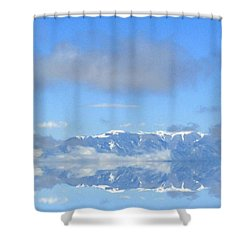 Winter On The Lake Shower Curtain