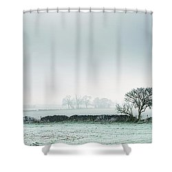 Winter On The Mendips Shower Curtain