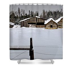 Winter On The Ranch Shower Curtain