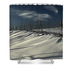 Winter On The South Downs Shower Curtain by Hazy Apple