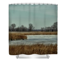 Winter On The Water Shower Curtain by Tamera James
