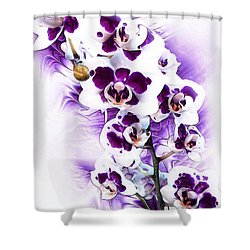 Winter Orchid Shower Curtain