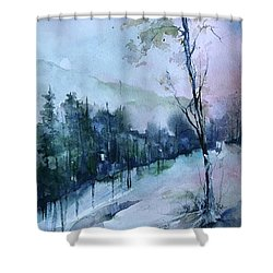 Winter Paradise Shower Curtain