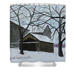 Winter Peace Shower Curtain