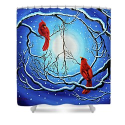 Winter Peace Shower Curtain by Laura Iverson