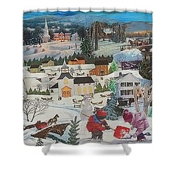 Winter Play Shower Curtain