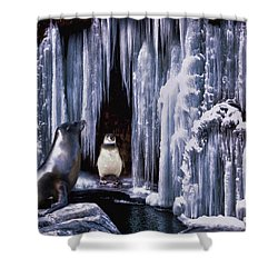 Winter Playground Shower Curtain