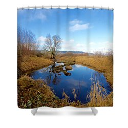 Winter Pond Shower Curtain