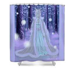 Shower Curtain featuring the painting Winter Queen by Amyla Silverflame