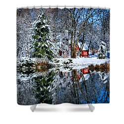 Winter Reflection Shower Curtain by Kristin Elmquist