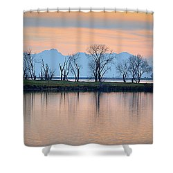 Shower Curtain featuring the photograph Winter Reflections by AJ Schibig