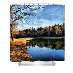 Winter River Shower Curtain by Rick Friedle