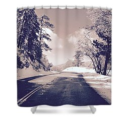 Winter Roads Shower Curtain