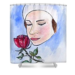 Winter Rose Shower Curtain by Clyde J Kell