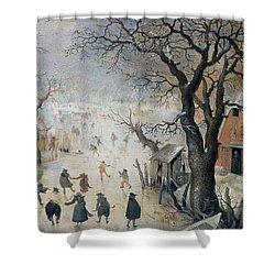 Winter Scene Shower Curtain by Hendrik Avercamp