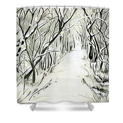 Winter Scene Shower Curtain
