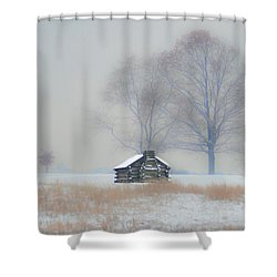 Beau Winter Scene   Valley Forge Shower Curtain