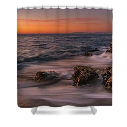 Winter Sea Shower Curtain