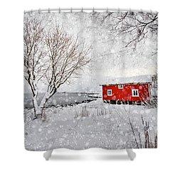 Winter Secret Shower Curtain