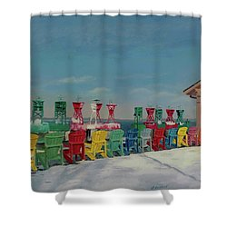 Winter Sentries Shower Curtain