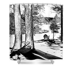 Shower Curtain featuring the photograph Winter Shadows by David Patterson