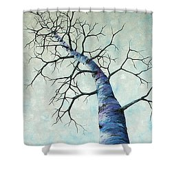Shower Curtain featuring the painting Winter Sky by Melinda Cummings